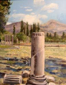Handmade oil on canvas.