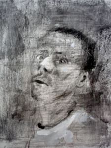 Graphite, charcoal, acrylic