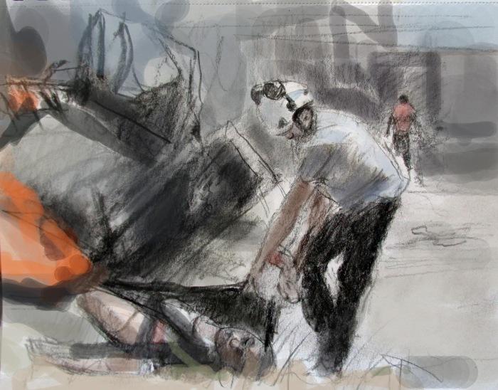 Syria burningcar